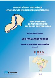 VOLUME 4. Aquífero Serra Grande. Bacia Sedimentar do - CPRM