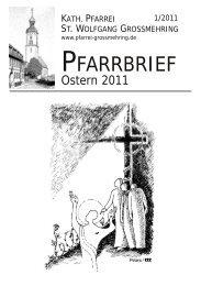 Pfarrbrief Ostern 2011