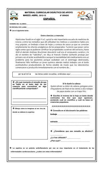 Sexto - Dirección de Educación Primaria