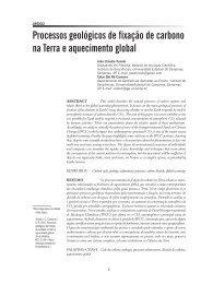 Processos geológicos de fixação de carbono na ... - IGEO- Unicamp