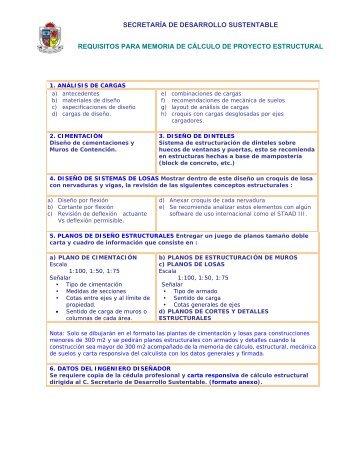 carta responsiva de cálculo estructural - Municipio de San Pedro ...