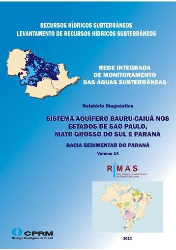 VOLUME 14. Sistema Aquífero Bauru-Caiuá nos Estados ... - CPRM