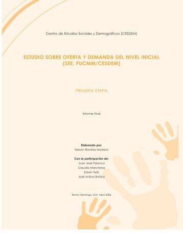 Estudio sobre Oferta y Demanda del Nivel Inicial - Educando