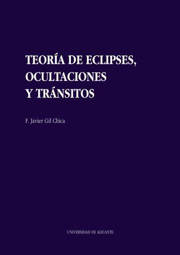 teoría de eclipses, ocultaciones y tránsitos - Publicaciones de la ...