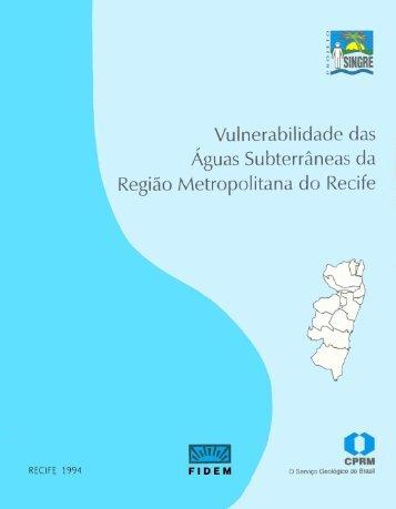 Vulnerabilidade das Águas Subterrâneas da RMR - CPRM
