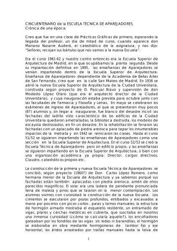 CINCUENTENARIO de la ESCUELA TÉCNICA DE ... - La EUATM