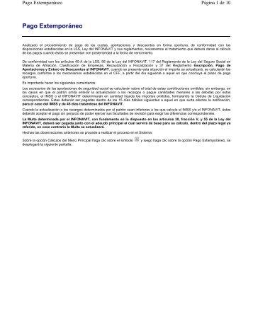 Pago Extemporáneo - IMSS
