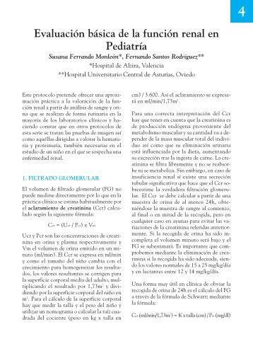 4. Evaluación básica de la función renal en - Asociación Española ...