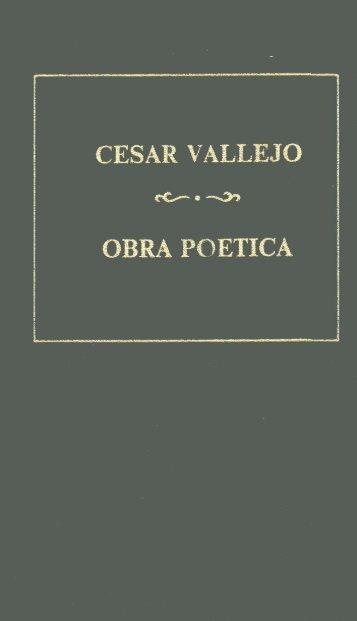 Obra poética: Los heraldos negros; Trilce; Poemas ... - Biblioteca