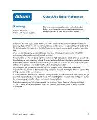 Outputjob Editor Reference - Altium