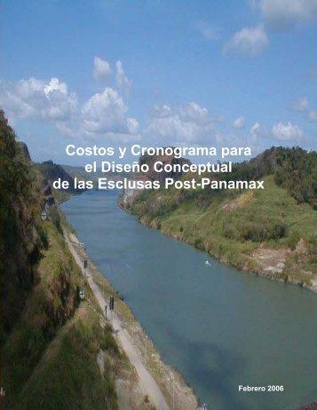 Costos y Cronograma para el Diseño Conceptual ... - Panama Canal
