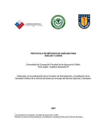 Protocolo de métodos de análisis para suelos y - Servicio Agrícola y ...