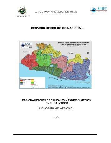SERVICIO HIDROLÓGICO NACIONAL - SNET