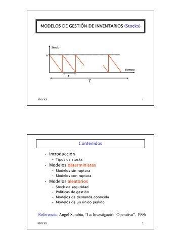 MODELOS DE GESTIÓN DE INVENTARIOS - Material Didáctico de ...