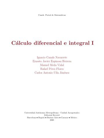 Cálculo diferencial e integral I - Editorial Reverte