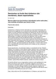 Demissões na fusão Itaú-Unibanco são inevitáveis ... - Globalbrands