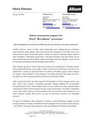 Media Release - Altium