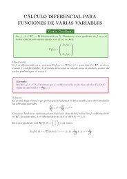 cálculo diferencial para funciones de varias variables