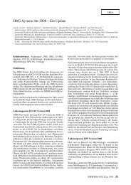 DRG-System für 2008 - Ein Update - RKI