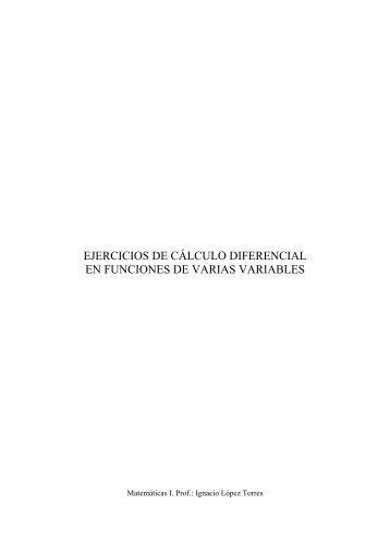 ejercicios de cálculo diferencial en funciones de varias variables