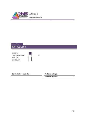 INSTRUCTIVO PAGO ART. 9 - femucor
