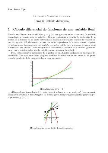 Cálculo diferencial 1 Cálculo diferencial de funciones - Universidad ...