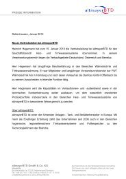 PRESSE INFORMATION Dettenhausen, Januar ... - bei altmayerbtd