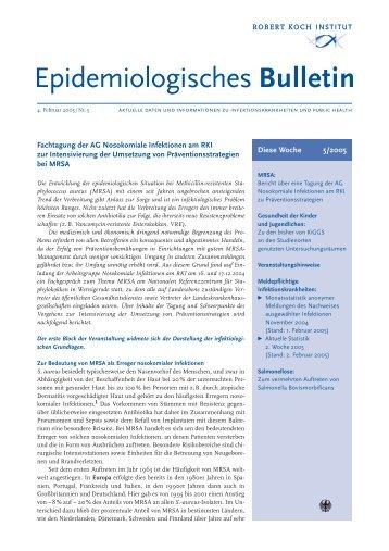 Fachtagung der AG Nosokomiale Infektionen am RKI zur ...