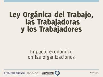 Reforma de la Ley Orgánica del Trabajo 2012 - Conindustria v2