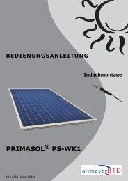 BEDIENUNGSANLEITUNG Indachmontage PRIMASOL ® PS-WK1