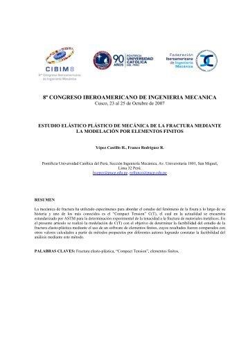 ESTUDIO ELÁSTICO PLÁSTICO DE MECÁNICA DE LA FRACTURA ...