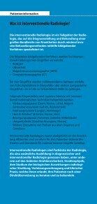 Patienteninformation Interventionelle Radiologie: Ihre Alternative zur ... - Seite 2