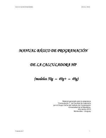 MANUAL BÁSICO DE PROGR MANUAL BÁSICO DE ...