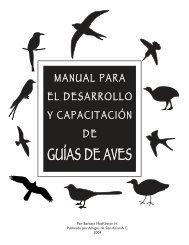 Manual para el desarrollo y capacitación de guías de aves - BirdLife ...