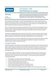 Shift PCB Design into top gear Summary - Altium