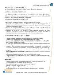 PRUEBA DEL ALIENTO CON C-14 - Medicine