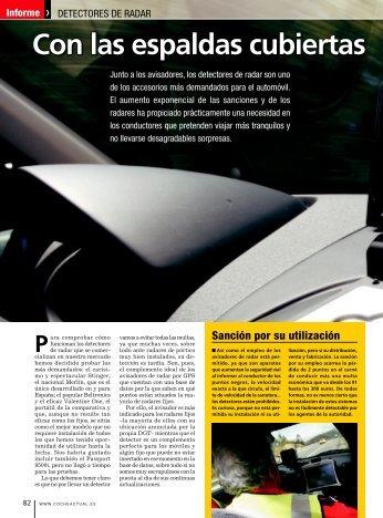 """07-2007 Prueba realizada por la revista del motor """"Coche Actual"""""""