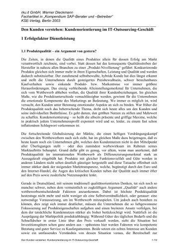 Den Kunden verstehen: Kundenorientierung im IT ... - rku.it GmbH