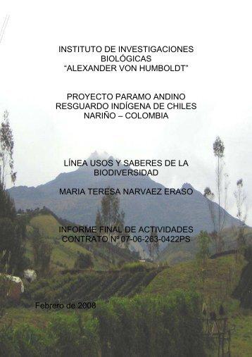 Informe Final Uso de Biodiversidad- Ma. Teresa ... - CHM-Colombia