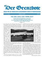 5. Juni 2011 - Evangelisch-altreformierte Kirche in Niedersachsen