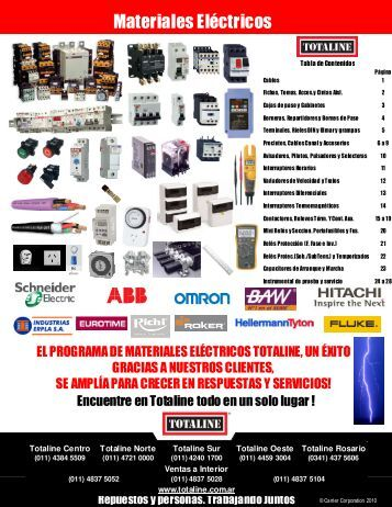 Materiales eléctricos en Totaline
