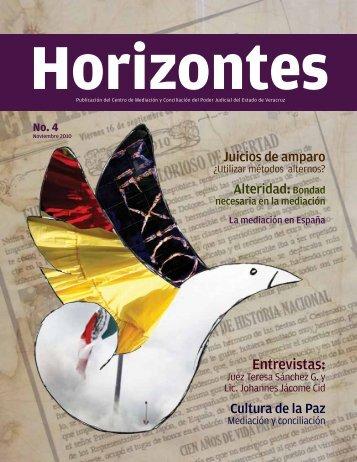 Revista Horizontes No. 4 - Poder Judicial del Estado de Veracruz