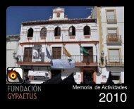 Memoria de actividades 2010 - Fundación Gypaetus