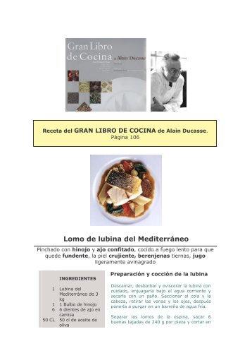 Lomo de lubina del Mediterráneo.pdf - Lamangagestion.com