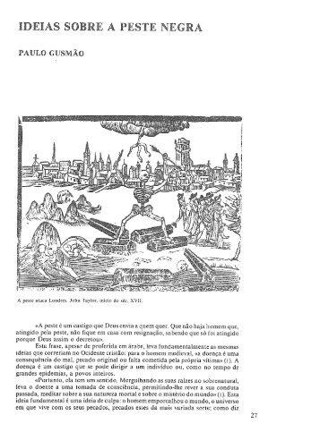 Ideias sobre a peste negra / Paulo Gusmão. Humanidades