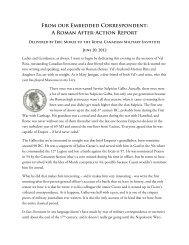 From our Embedded Correspondent: A Roman After-Action Report
