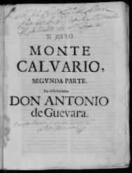 MONTE CALVARIO} DON ANTONIO de Guevara..