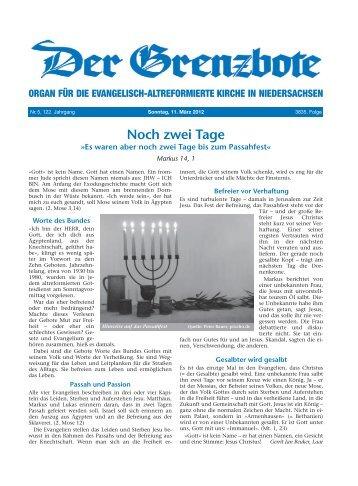 11. März 2012 - Evangelisch-altreformierte Kirche in Niedersachsen