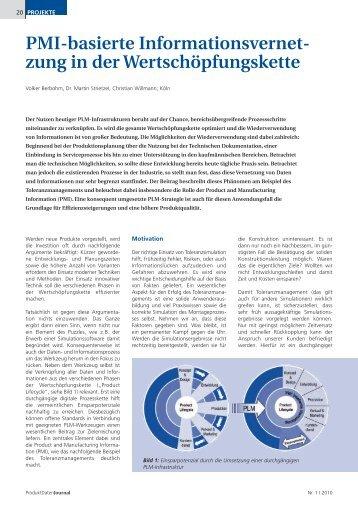 PMI-basierte Informationsvernetzung in der ... - RLE