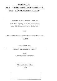 beiträge zur territorialgeschichte des landkreises alzey